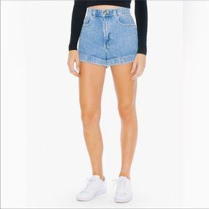 🆕 American Apparel High Rise Cuffed Jean Shorts